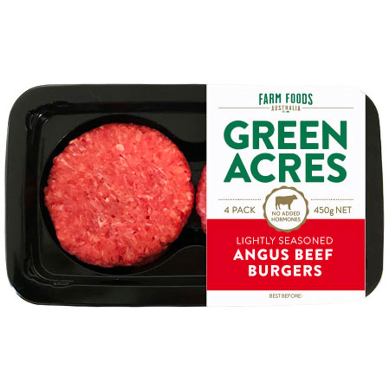 Green Acres Angus Beef Burger, 450 Gram