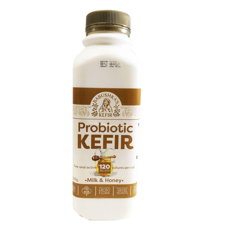 Babushka Kefir Milk & Honey Yoghurt, 500 Gram