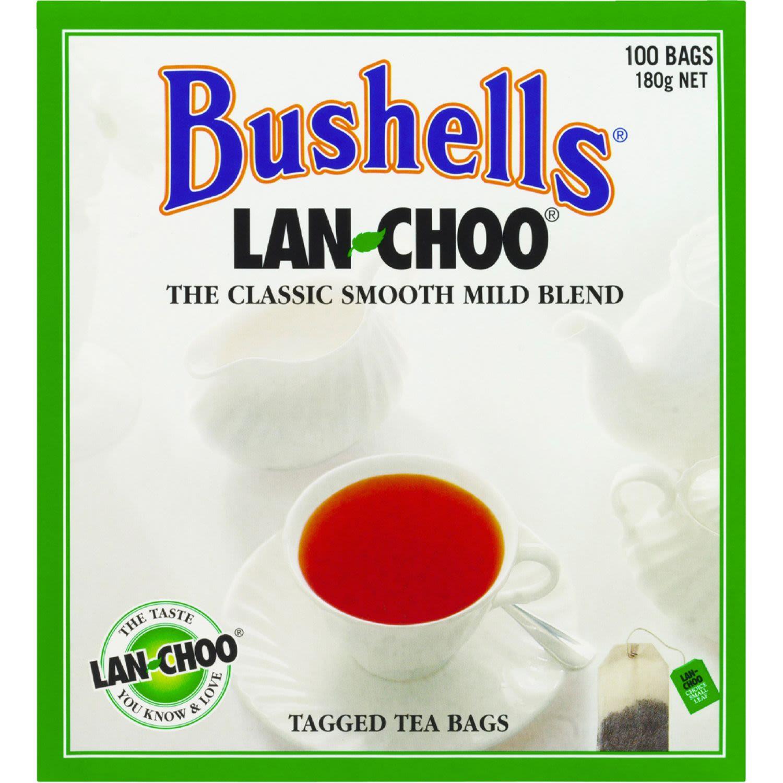 Bushells Lan-Choo Black Tea Bags, 100 Each