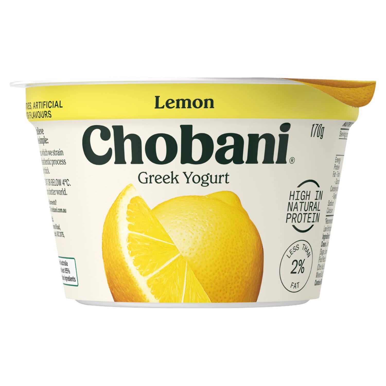 Chobani Yoghurt Pots Lemon, 170 Gram