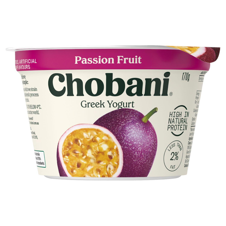 Chobani Yoghurt Pots Passion Fruit, 170 Gram