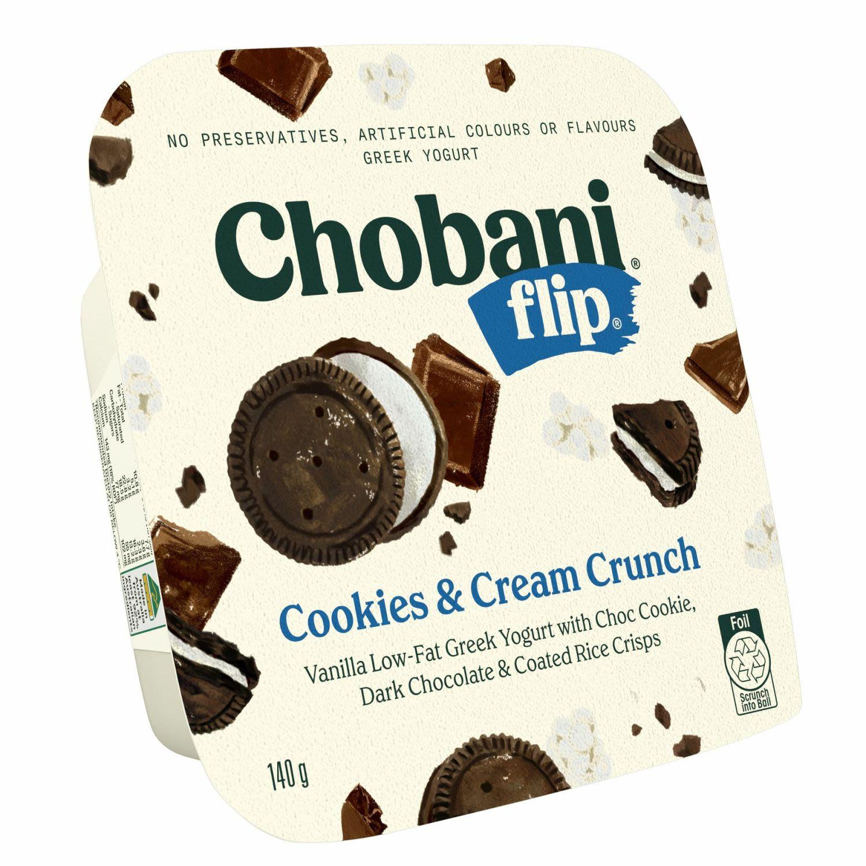 Chobani Yoghurt Flip Cookies & Cream Crunch, 140 Gram