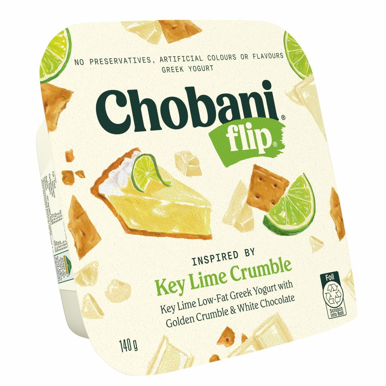 Chobani Yoghurt Flip Key Lime Crumble, 140 Gram