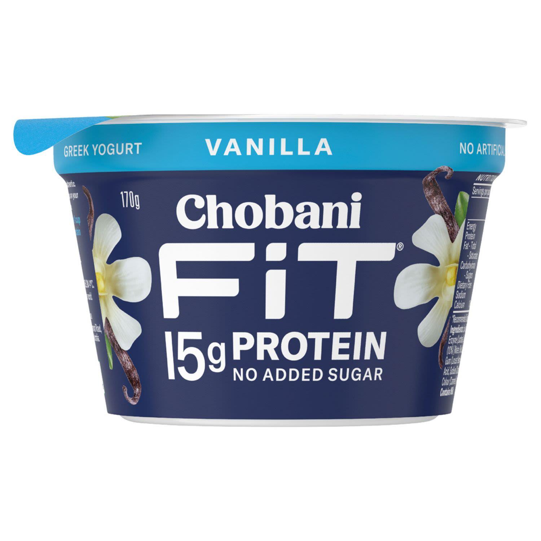 Chobani Yoghurt Fit Vanilla, 170 Gram