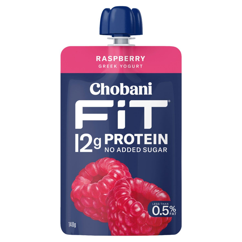 Chobani Yoghurt Fit Raspberry Pouch, 140 Gram