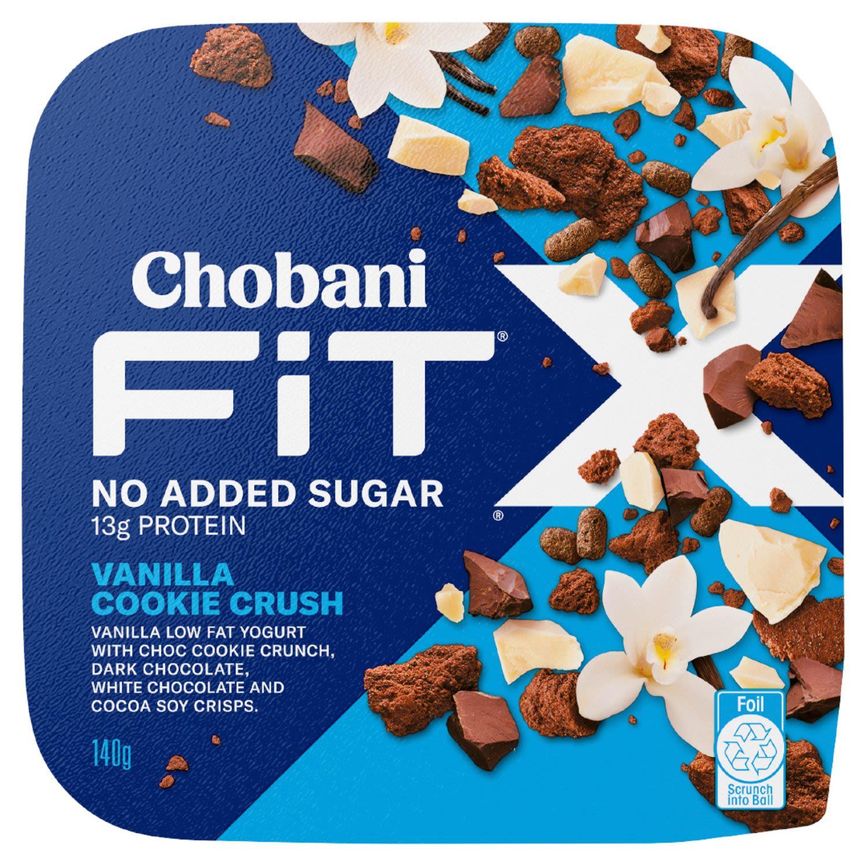 Chobani Yoghurt Fit X Vanilla Cookie Crush, 140 Gram