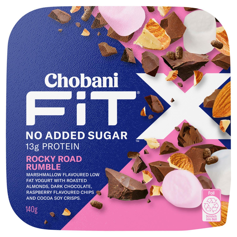 Chobani Yoghurt Fit X Rocky Road Rumble, 140 Gram