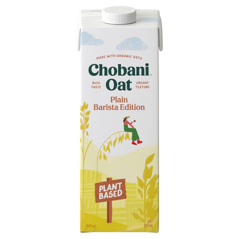 Chobani Milk Oat Plain Barista Edition, 946 Millilitre