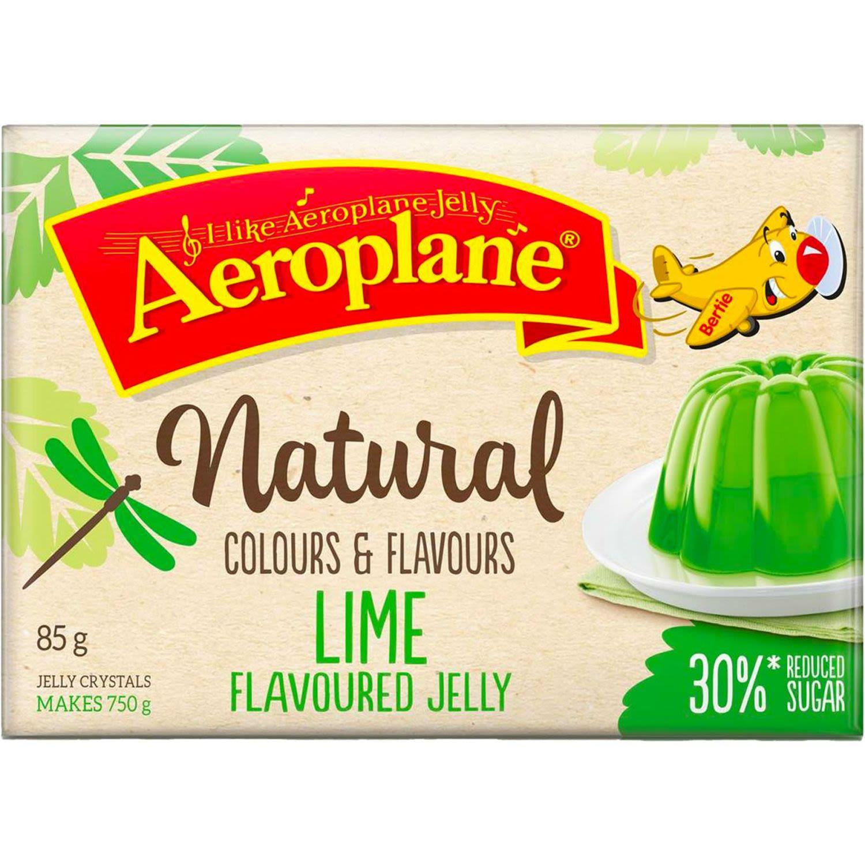 Aeroplane Naturals Reduced Sugar Jelly Lime, 85 Gram