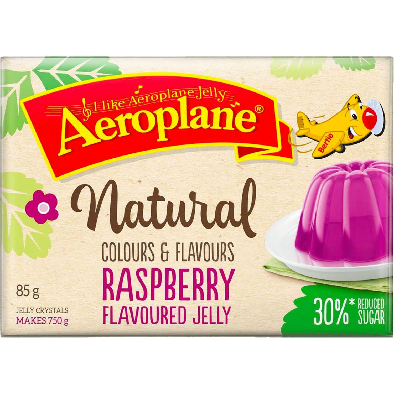 Aeroplane Naturals Reduced Sugar Jelly Raspberry, 85 Gram
