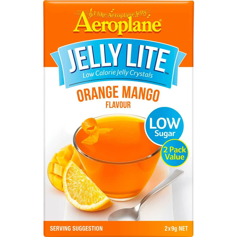 Aeroplane Lite Jelly Orange Mango, 18 Gram