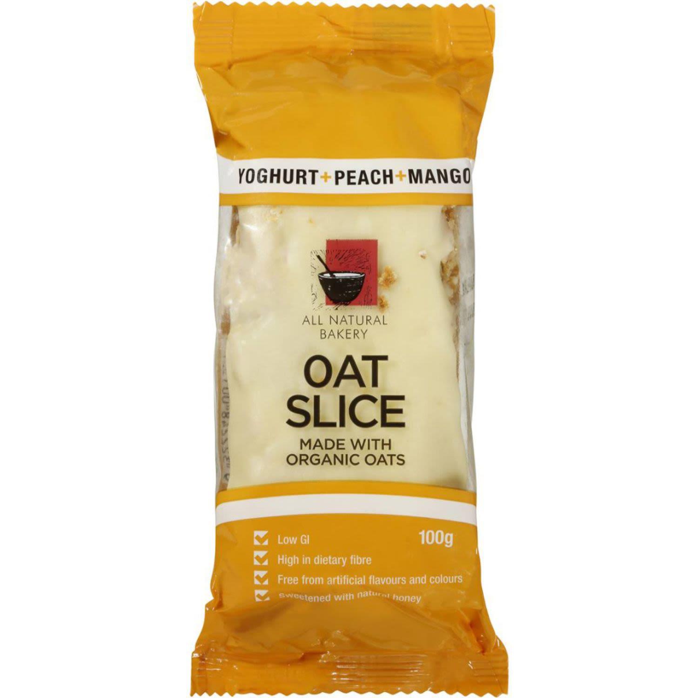 All Natural Bakery Organic Oat Slice Peach Mango, 100 Gram