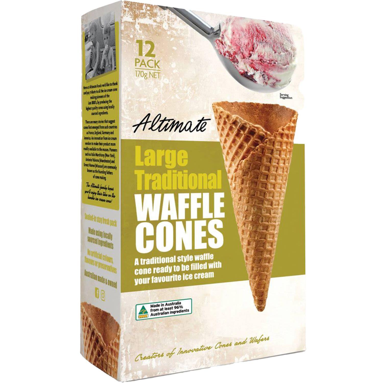 Altimate Waffle Ice Cream Cones, 170 Gram