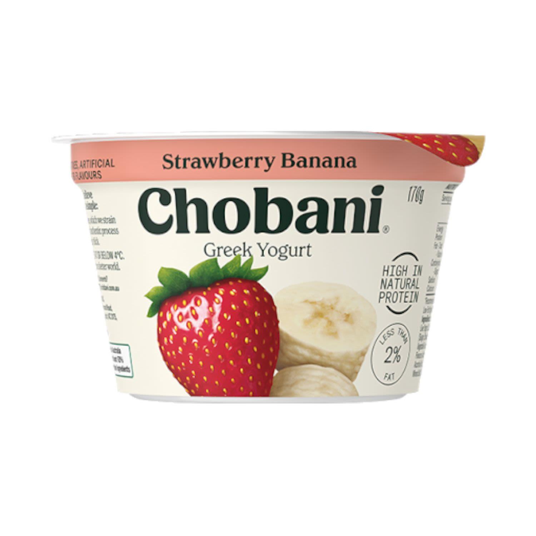 Chobani Yoghurt Pod Strawberry Banana, 170 Gram