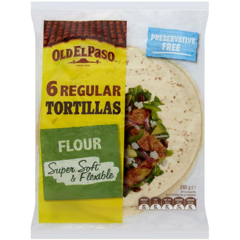 Old El Paso Tortillas, 6 Each