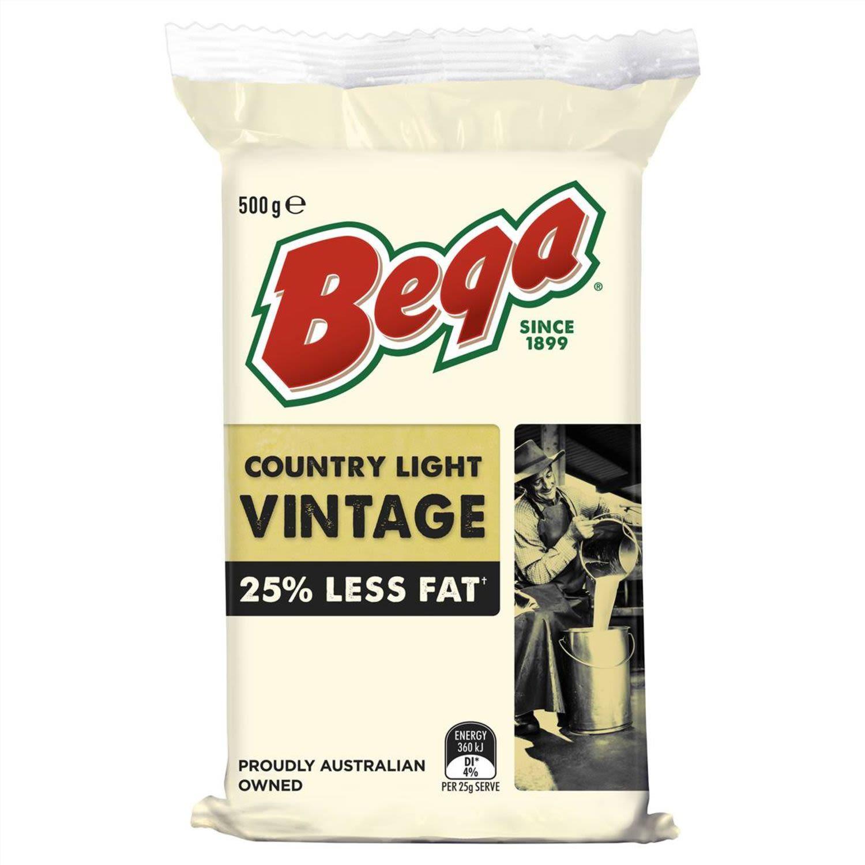 Bega Country Light Vintage Cheese, 500 Gram