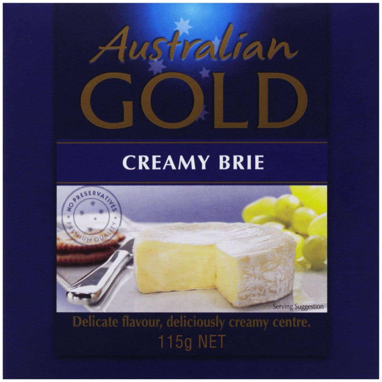 Australian Gold Longlife Creamy Brie, 115 Gram
