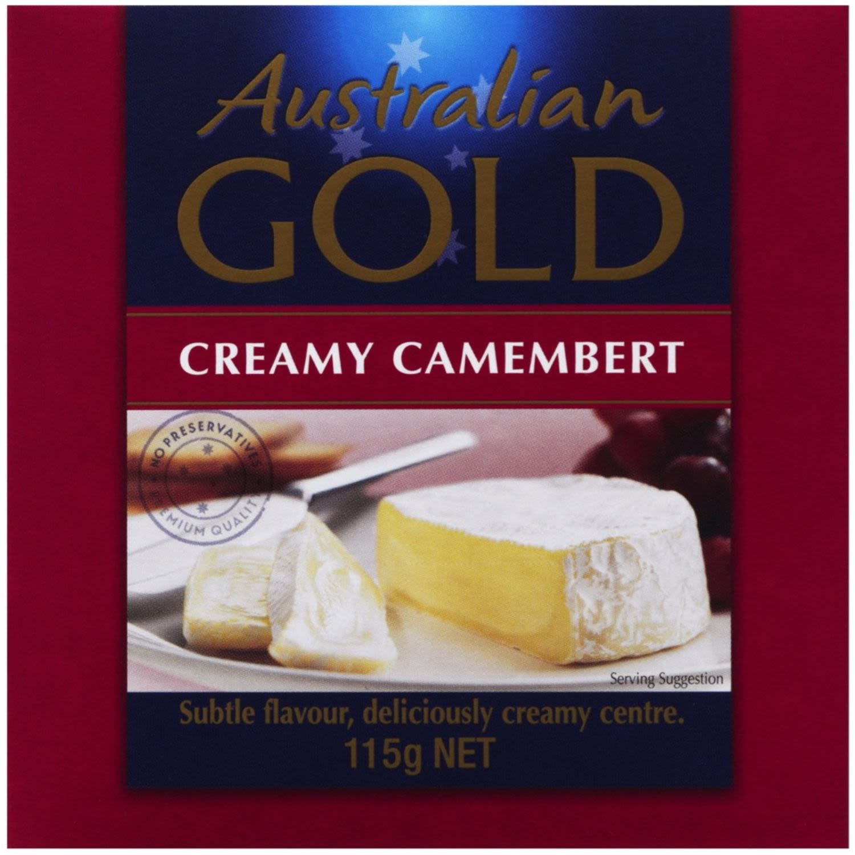 Australian Gold Long Life Camembert, 115 Gram