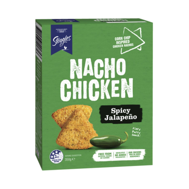 Steggles Nacho Chicken Spicy Jalapeno, 350 Gram