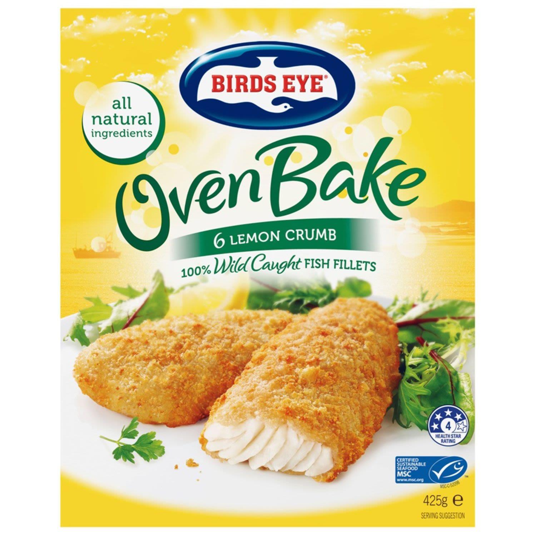 Birds Eye Oven Bake Crumbed Lemon, 425 Gram