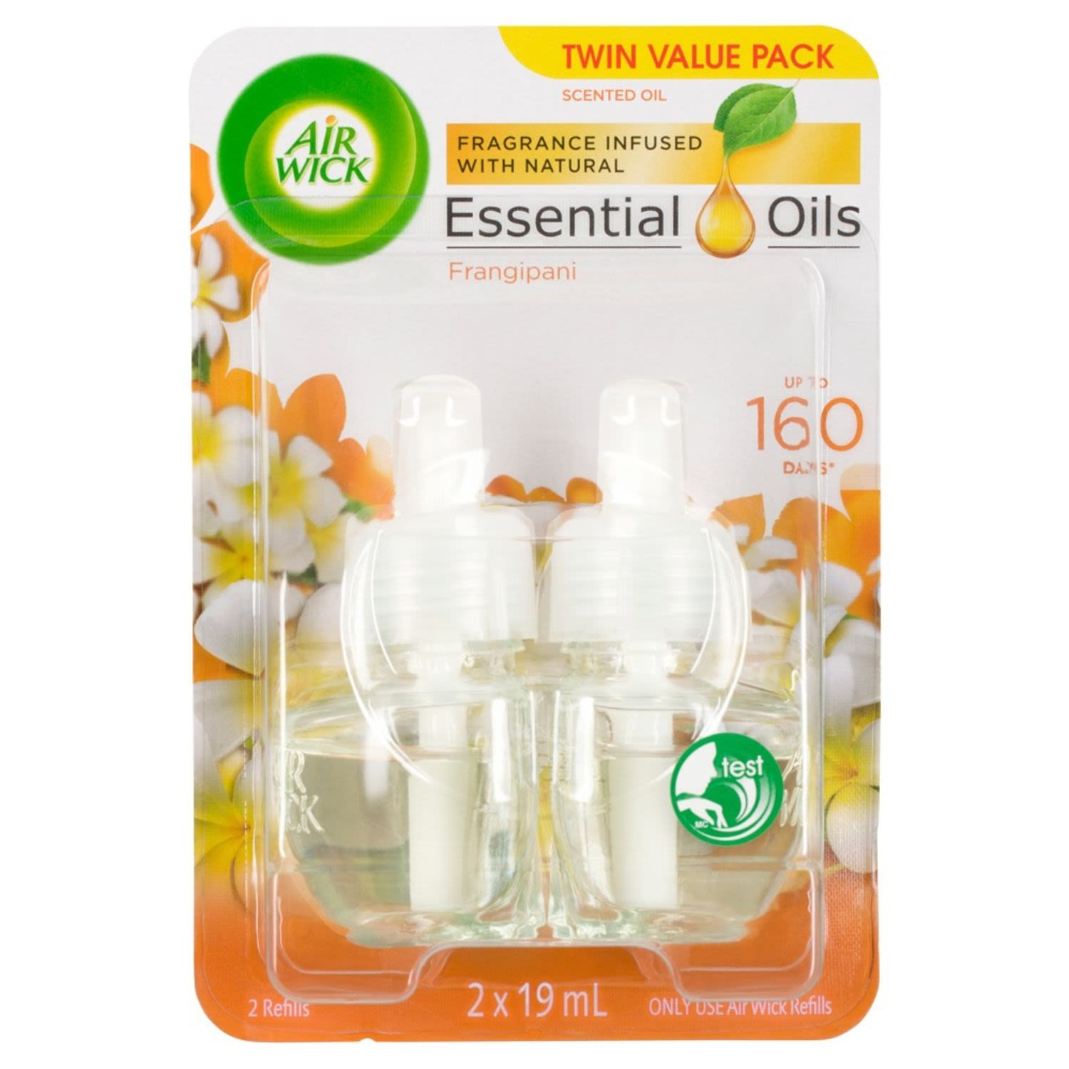 Air Wick Fragrance Infused With Natural Essential Oils Frangipani, 2 Each