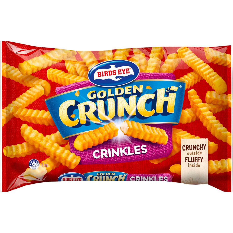Birds Eye Golden Crunch Crinkle Cut Chips, 1 Kilogram