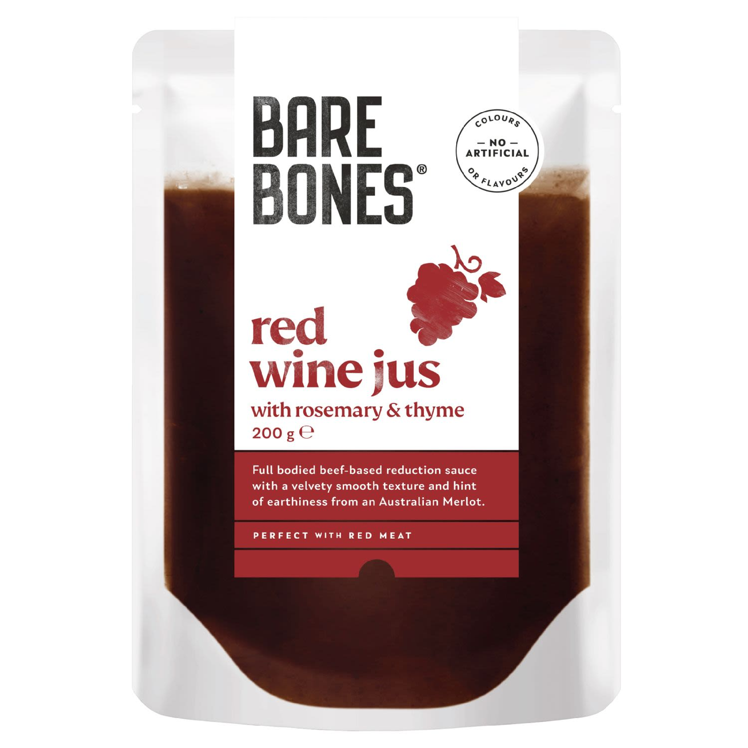 Bare Bones® Red Wine Jus with Rosemary & Thyme, 200 Gram