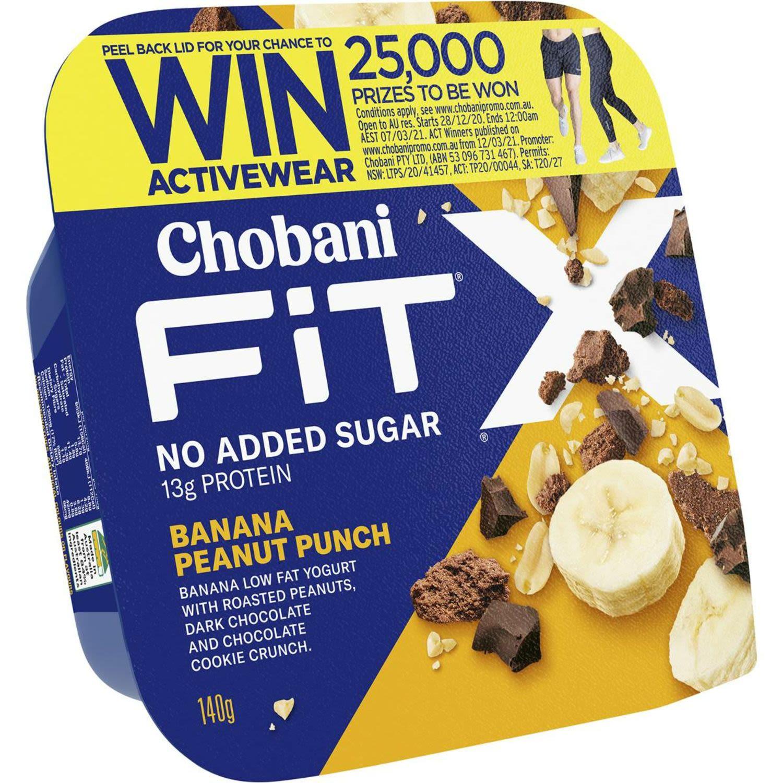 Chobani Fit X Banana Peanut Punch, 140 Gram