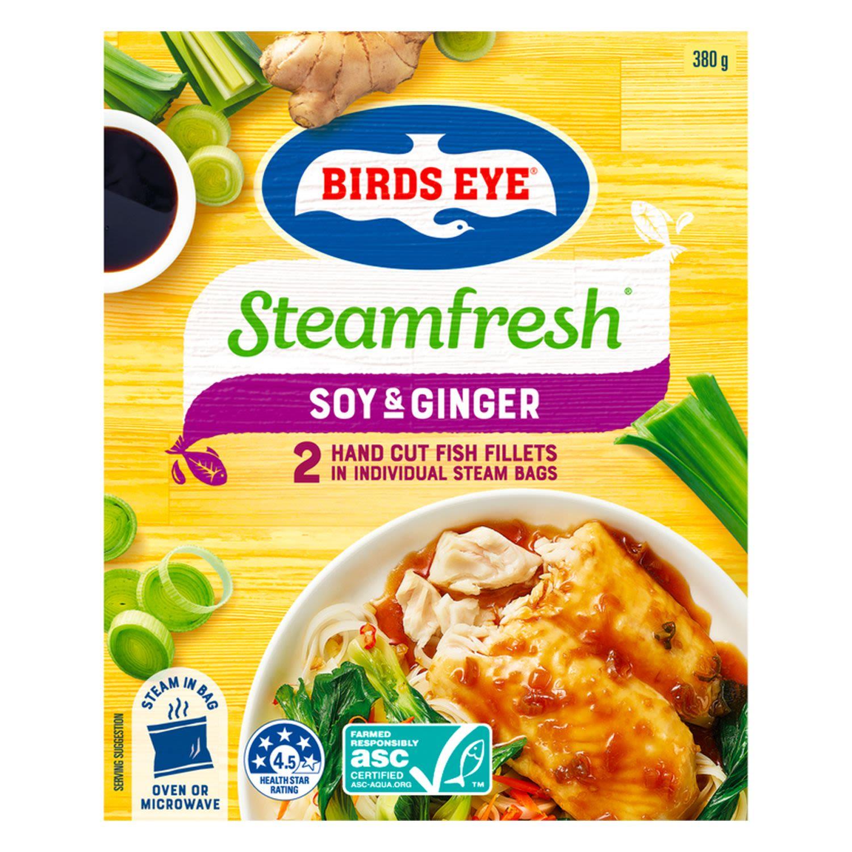 Birds Eye Steamfresh Soy & Ginger Fish, 380 Gram