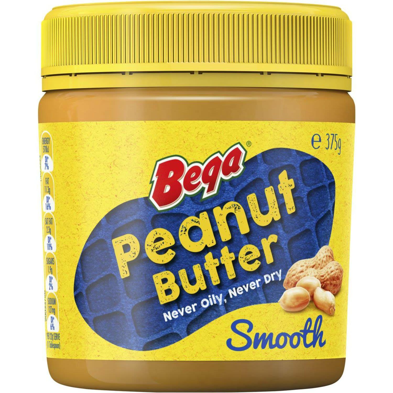 Bega Peanut Butter Smooth, 375 Gram