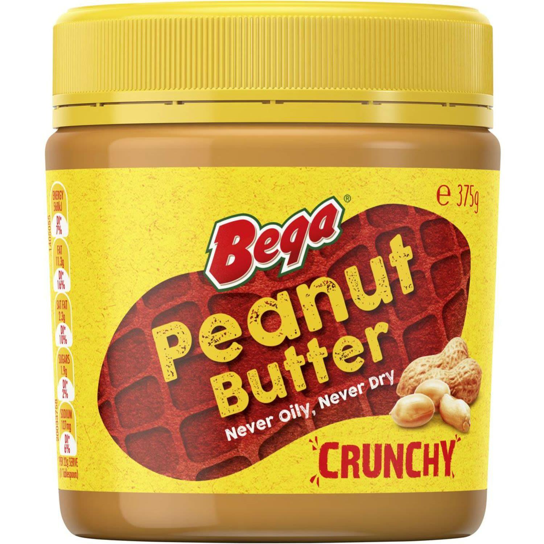 Bega Peanut Butter Crunchy, 375 Gram