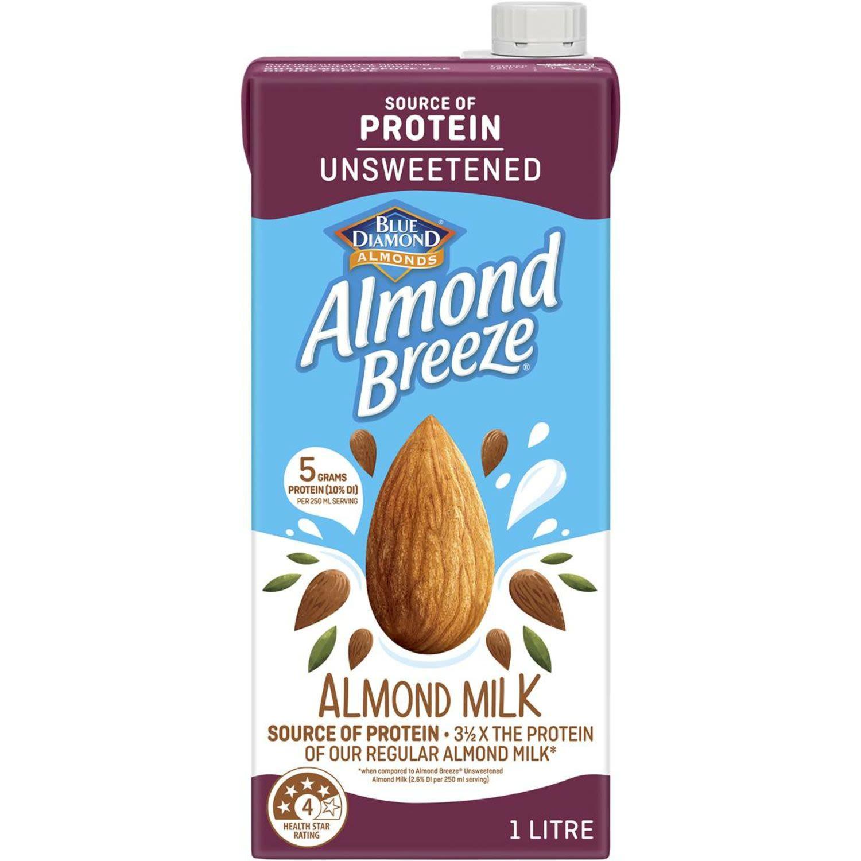 Blue Diamond Almond Breeze Protein UHT Almond Milk, 1 Litre