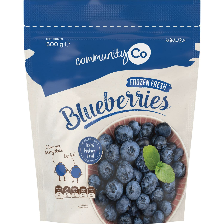 Community Co Frozen Blueberries, 500 Gram