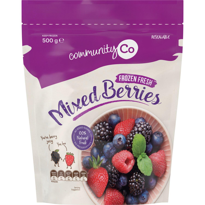Community Co Frozen Mixed Berries, 500 Gram