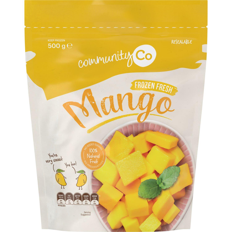 Community Co Frozen Mango, 500 Gram