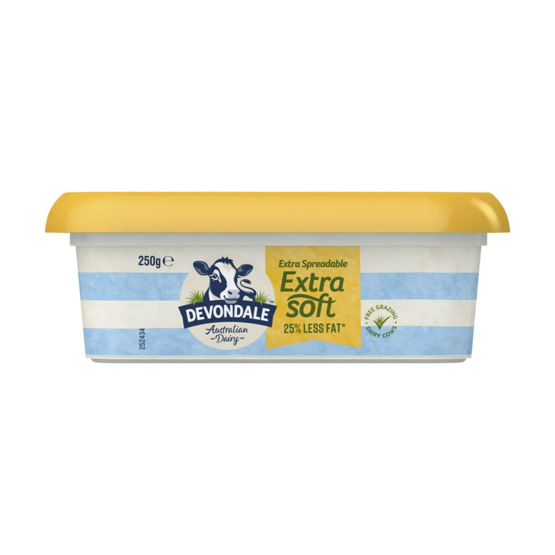 Devondale Dairy Extra Soft Regular Tub, 250 Gram