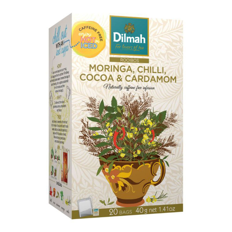 Dilmah Red Rooibos Moringa Chilli Cocoa & Cardamom Infusion, 20 Each