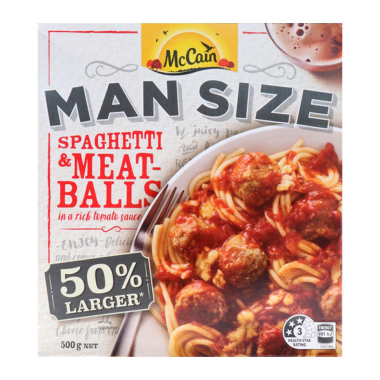 McCain Man Size Spaghetti Meatball, 500 Gram