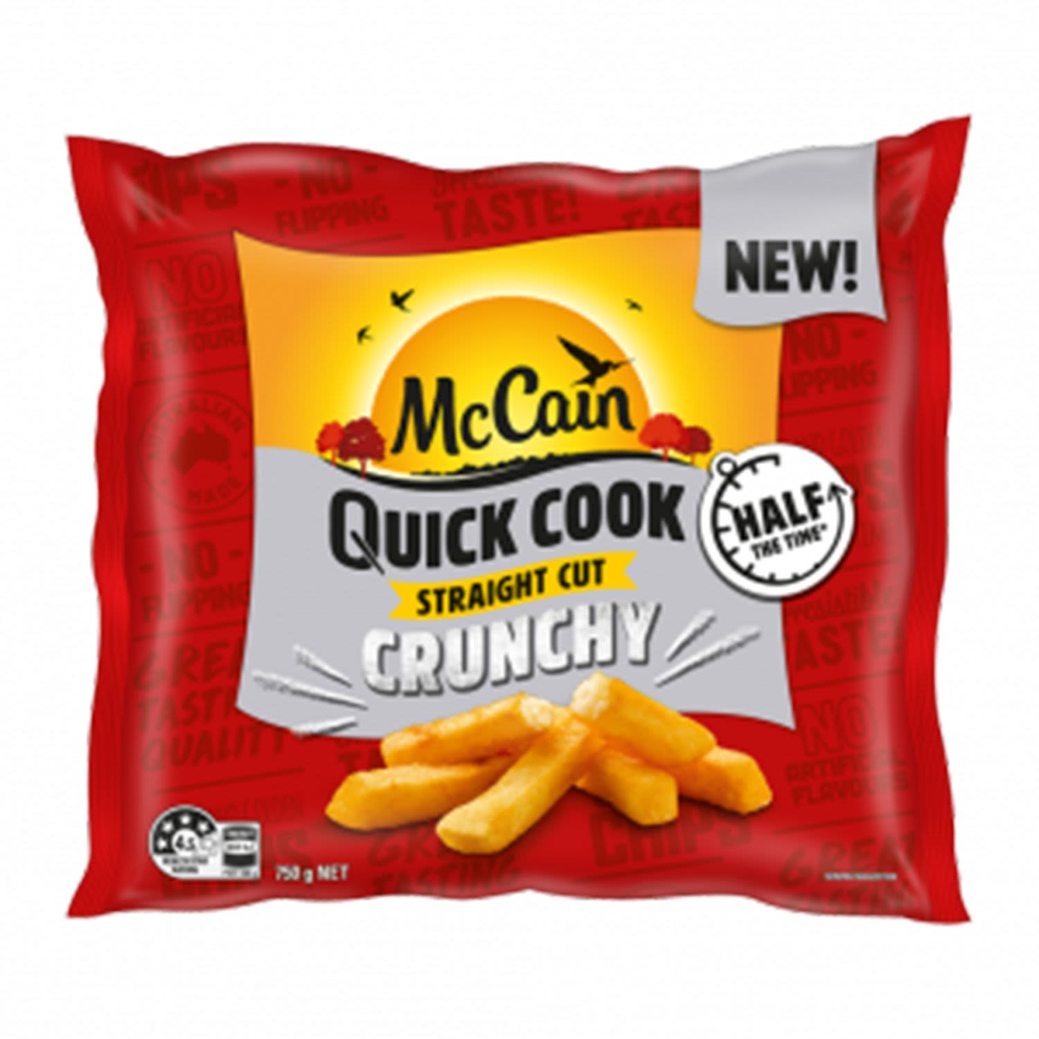 McCain Chips Quick Cook Straight Cut , 750 Gram