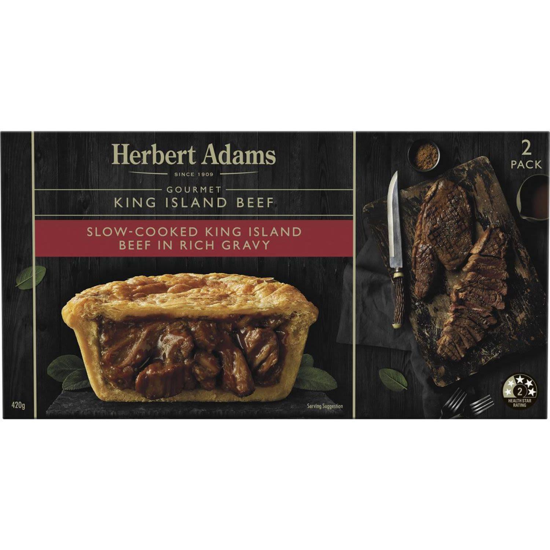 Herbert Adams Pies King Island Beef, 2 Each
