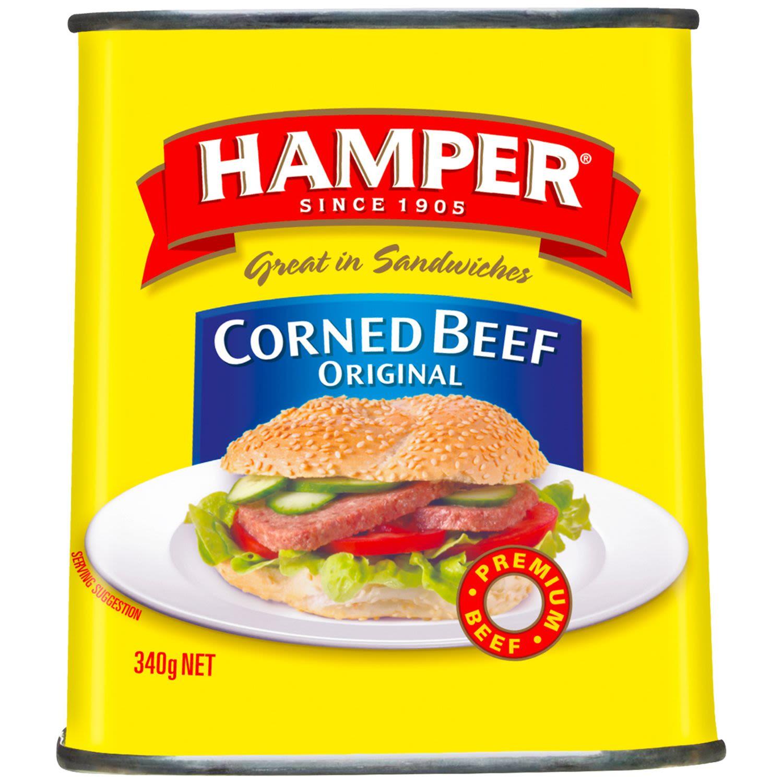 Hamper Beef Corned, 340 Gram
