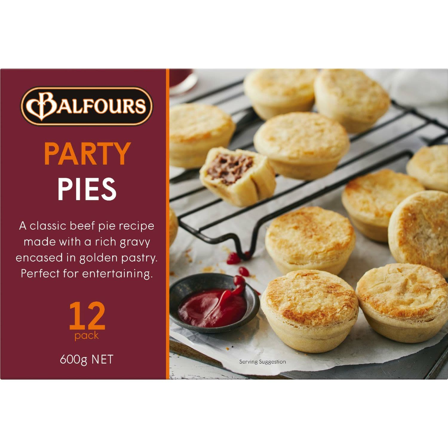 Balfours Pies Party, 12 Each