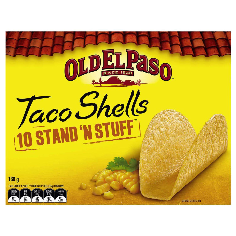 Old El Paso Stand N Stuff Taco Shells, 10 Each