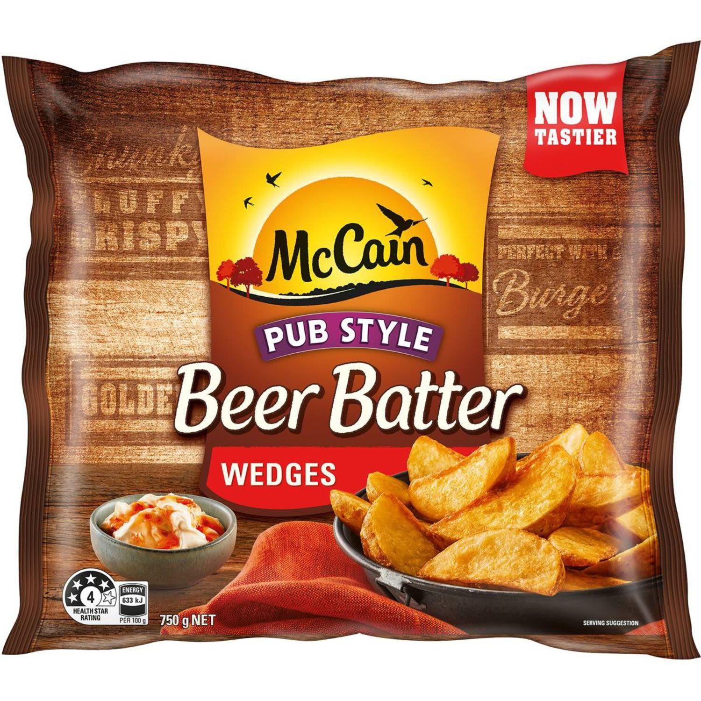 McCain Beer Batter Wedges, 750 Gram