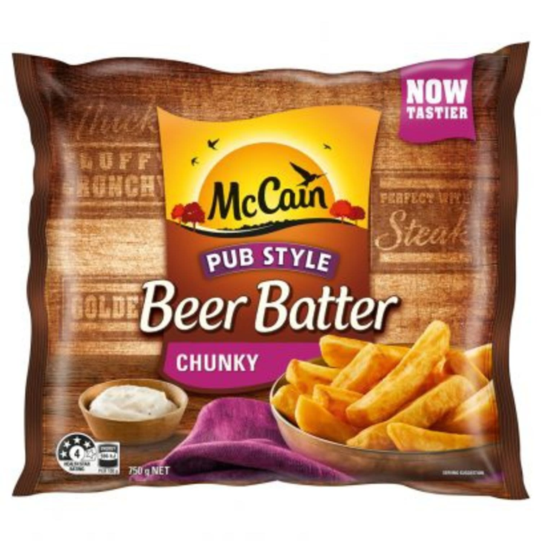 McCain French Fries Beer Battered Chunky Fries , 750 Gram