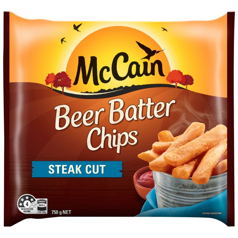 McCain Beer Batter Steakhouse Chips, 750 Gram