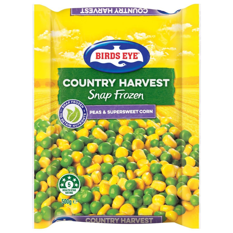 Birds Eye Country Harvest Pea's & Corn, 500 Gram