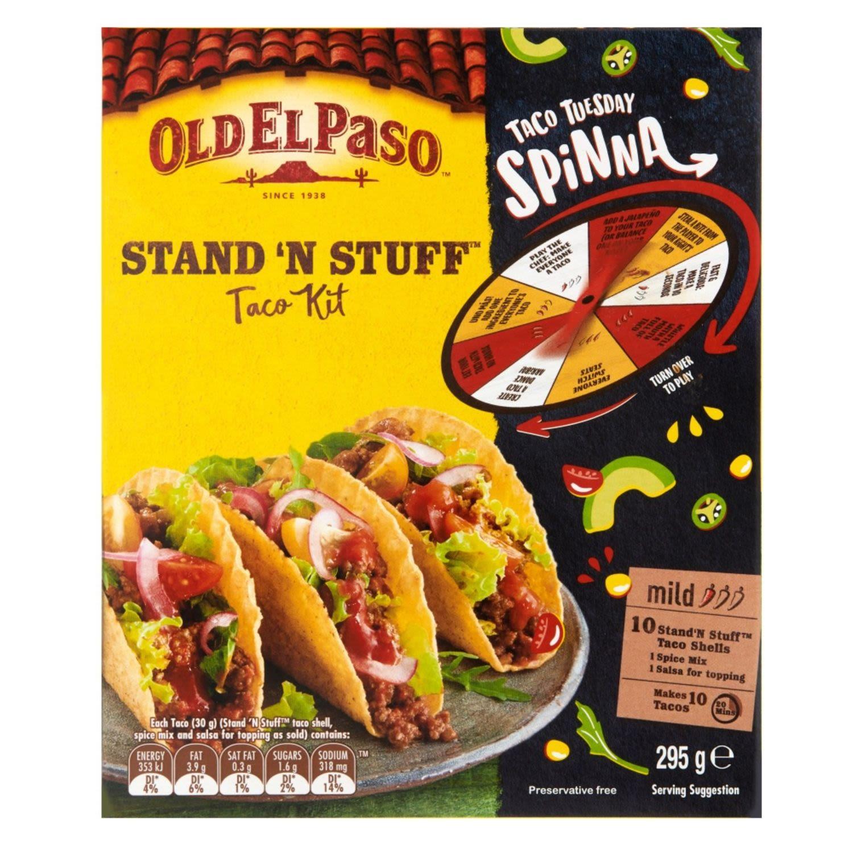 Old El Paso Stand 'N Stuff Mild 10 Taco Kit, 295 Gram
