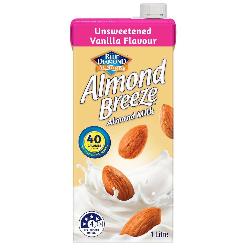 Almond Breeze Unsweetened Vanilla Almond Milk, 1 Litre