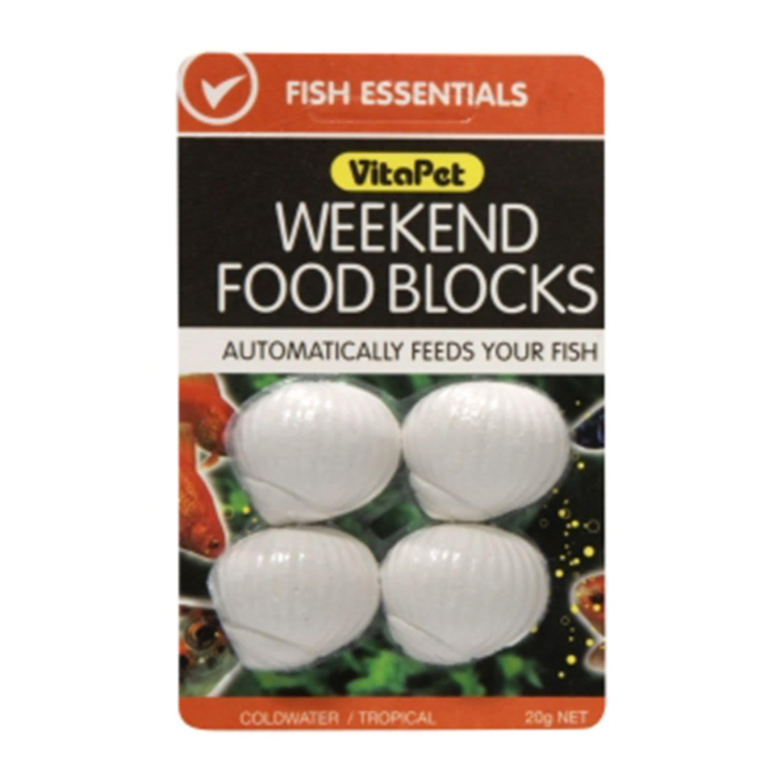 VitaPet Fish Food Weekend Blocks, 20 Gram